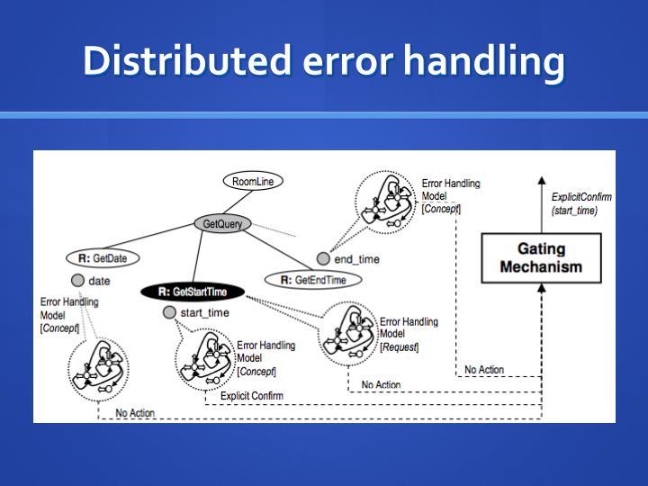 Distributed error handling