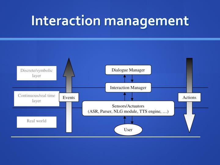 Interaction management