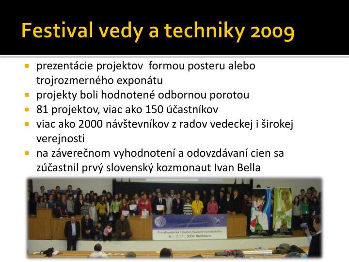 Festival vedy a techniky 2009