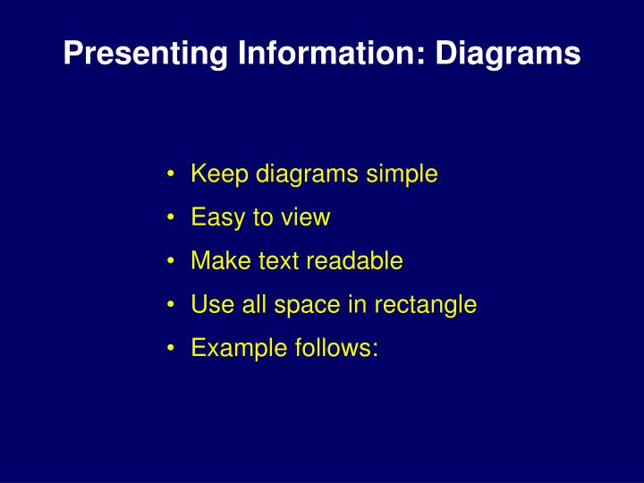 Presenting Information: Diagrams