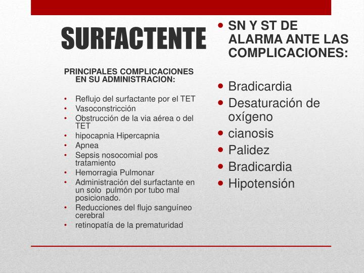 PRINCIPALES COMPLICACIONES EN SU ADMINISTRACION: