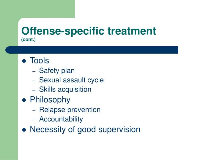 Offense-specific treatment