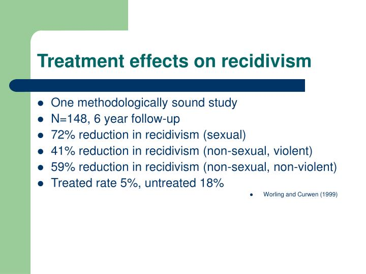 Treatment effects on recidivism
