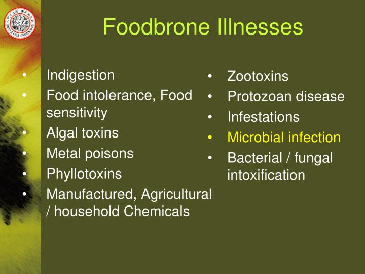 Foodbrone illnesses