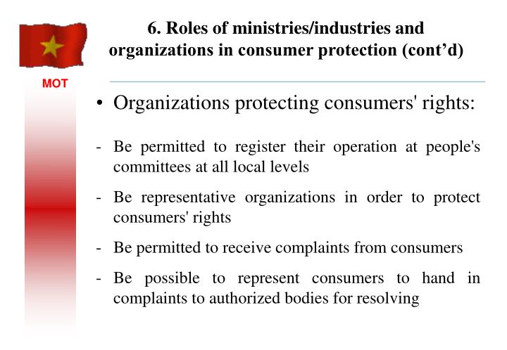 Organizations protecting consumers' rights