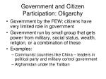 government and citizen participation oligarchy