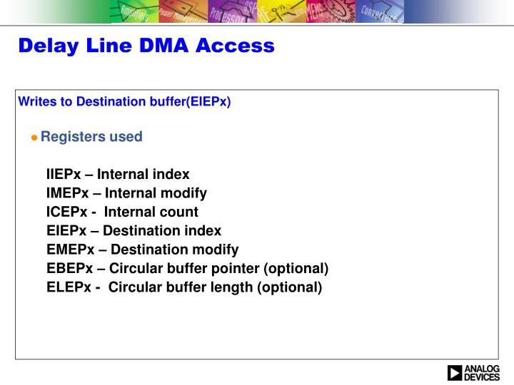 Delay Line DMA Access