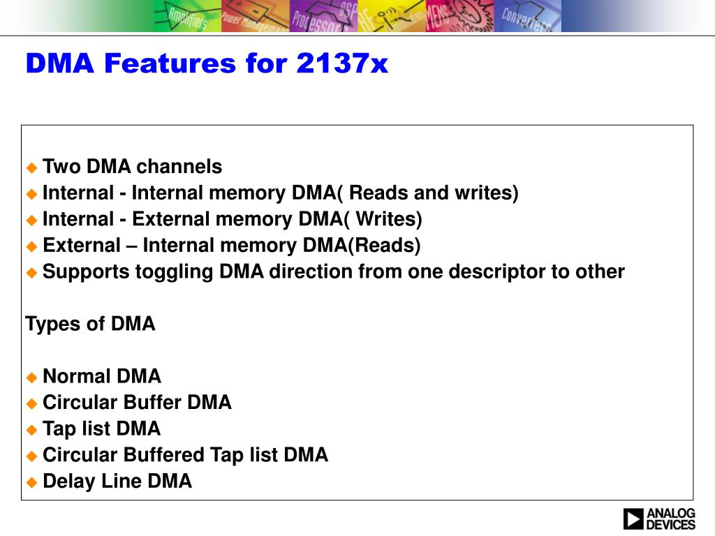 PPT - External Port DMA Engine for 2137x PowerPoint