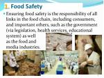 1 food safety