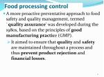 food processing control