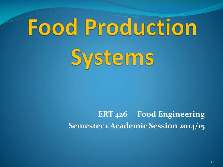 food production systems n.