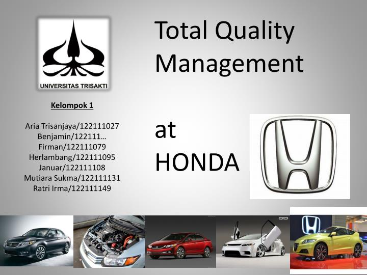 Ppt Total Quality Management At H Onda Powerpoint Presentation Free Download Id 5716957