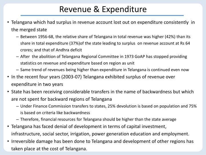 Revenue & Expenditure