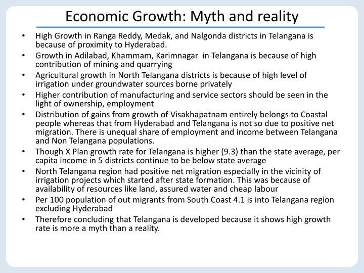 Economic Growth: Myth and reality