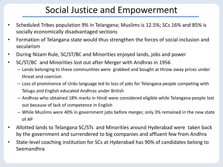Social Justice and Empowerment