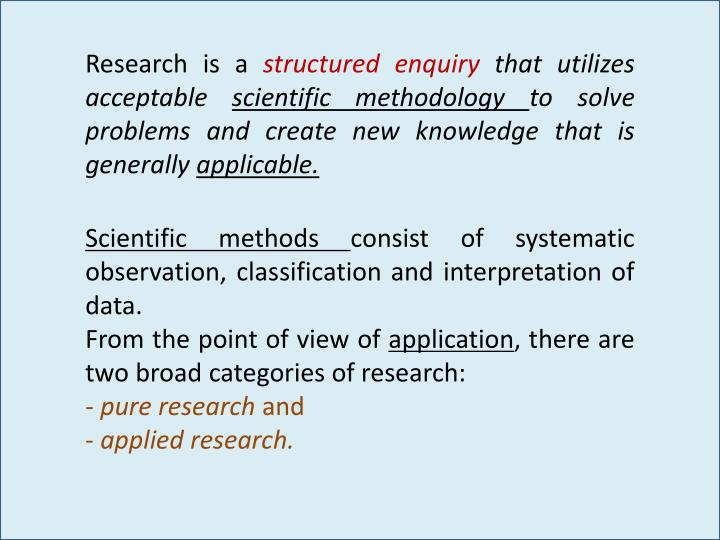Research is a