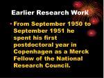 earlier research work