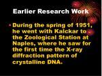 earlier research work2