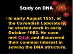 study on dna