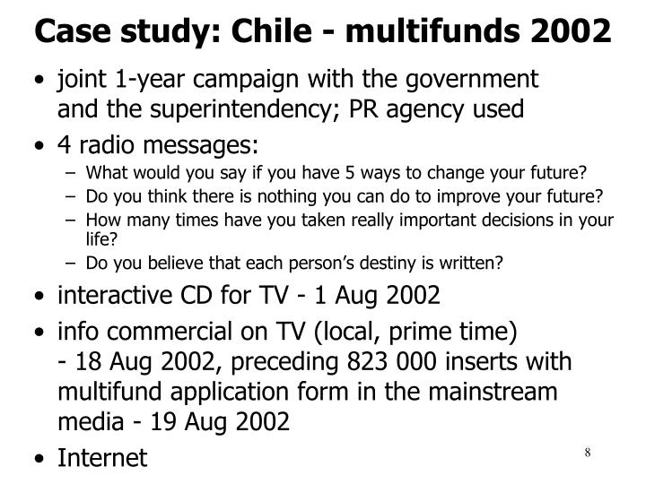Case study: Chile - multifunds 2002