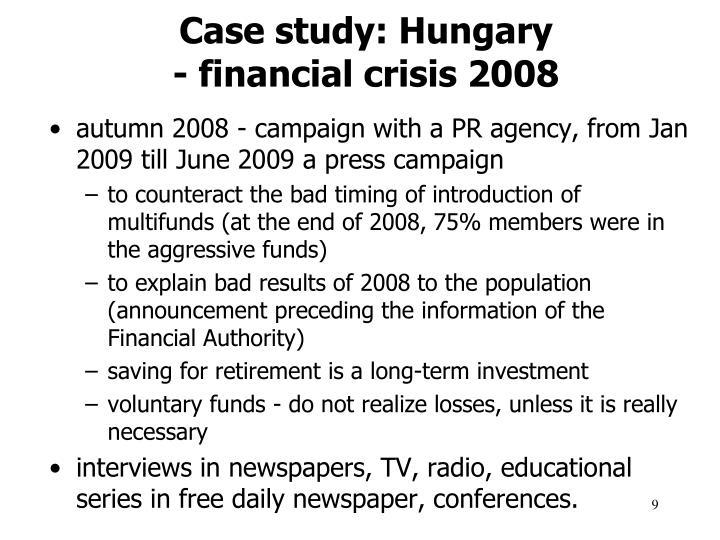Case study: Hungary