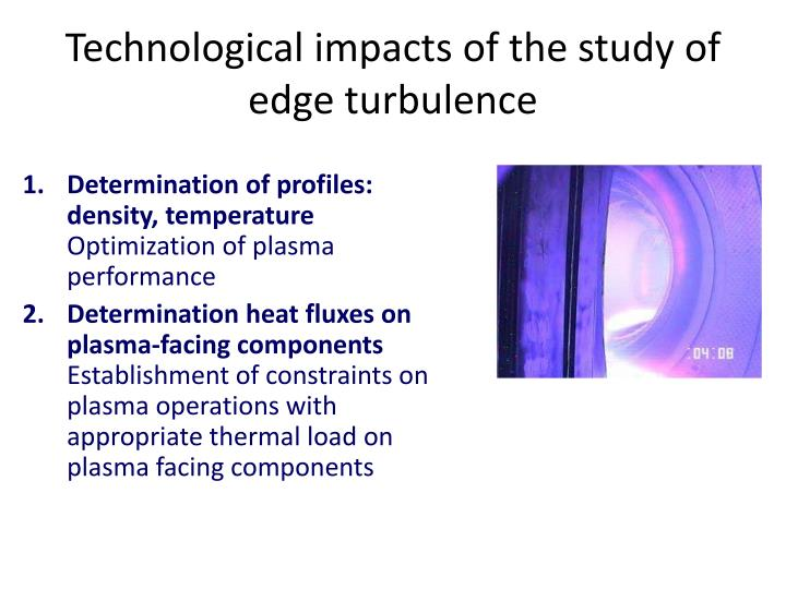 Technological impacts of the study of edge turbulence