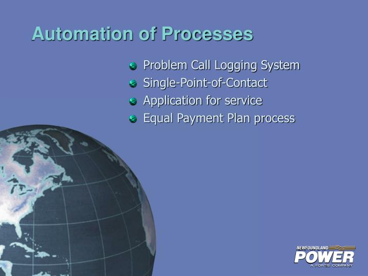 Automation of Processes