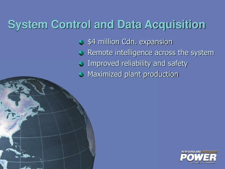 System Control and Data Acquisition