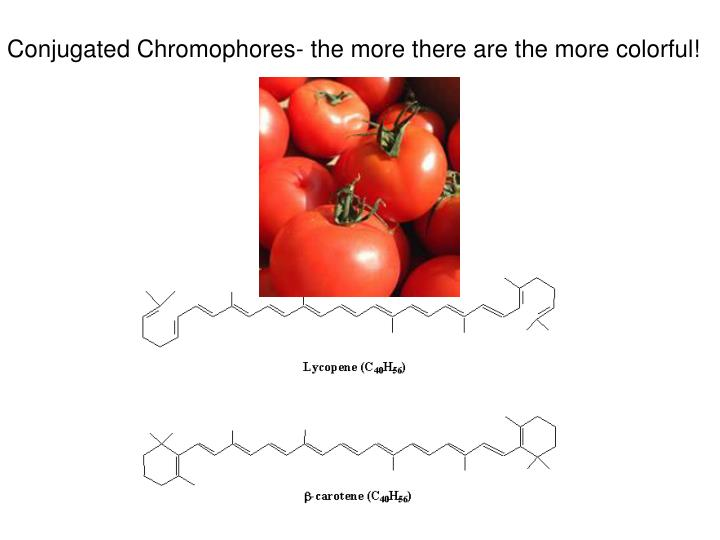Conjugated Chromophores- the more there are the more colorful!