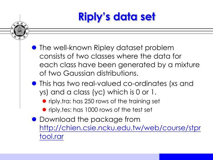 Riply's data set