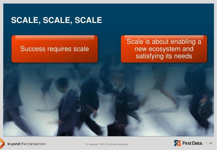 Success requires scale