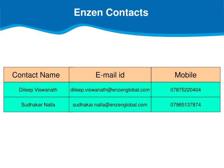Enzen Contacts