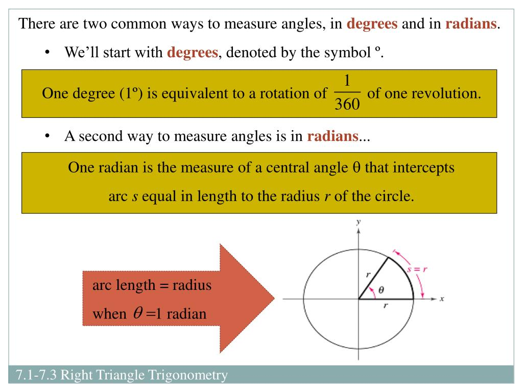 PPT - Chapter 7 Sections 1-3: Right Triangle Trigonometry ...