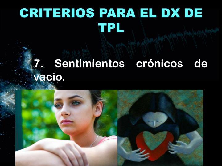 CRITERIOS PARA EL