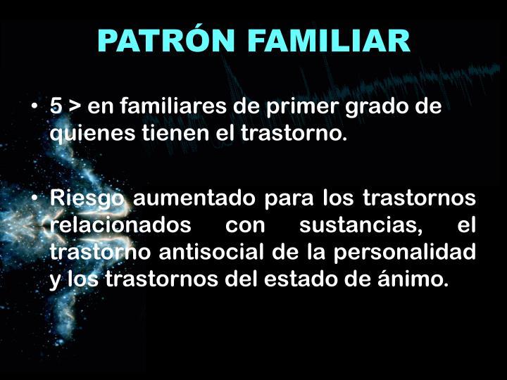 PATRÓN FAMILIAR