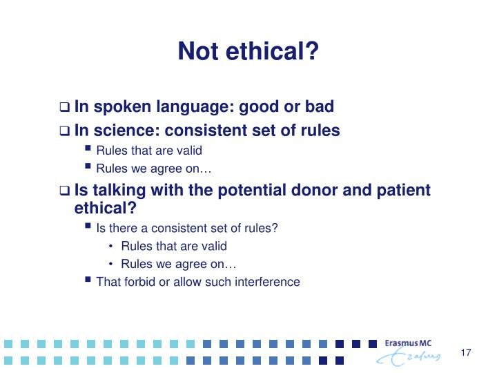 Not ethical?