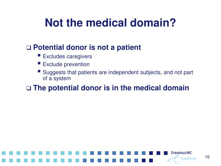 Not the medical domain?