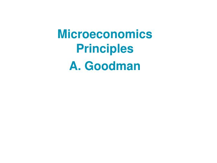 microeconomics principle Find great deals on ebay for principles of microeconomics mankiw in education textbooks shop with confidence.