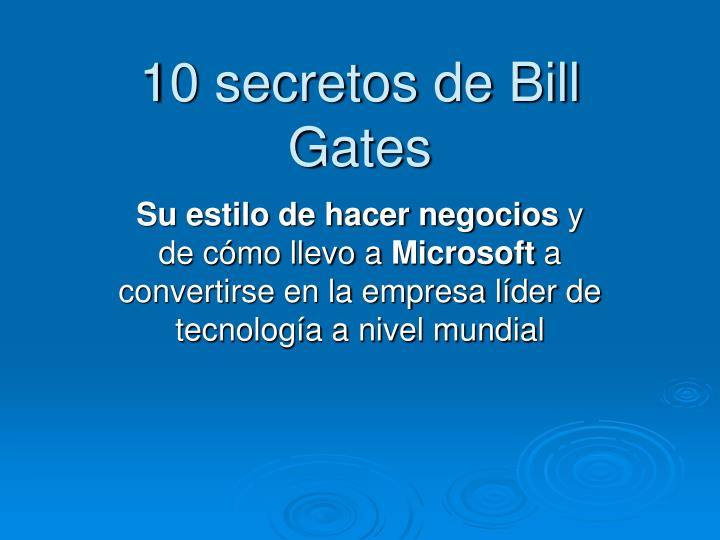 10 secretos de bill gates n.