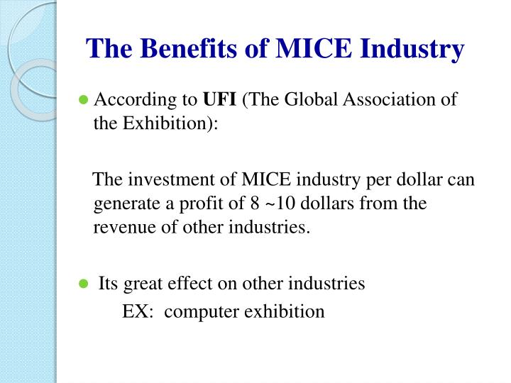 The Benefits of MICE Industry
