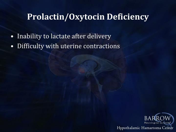 Prolactin/Oxytocin Deficiency