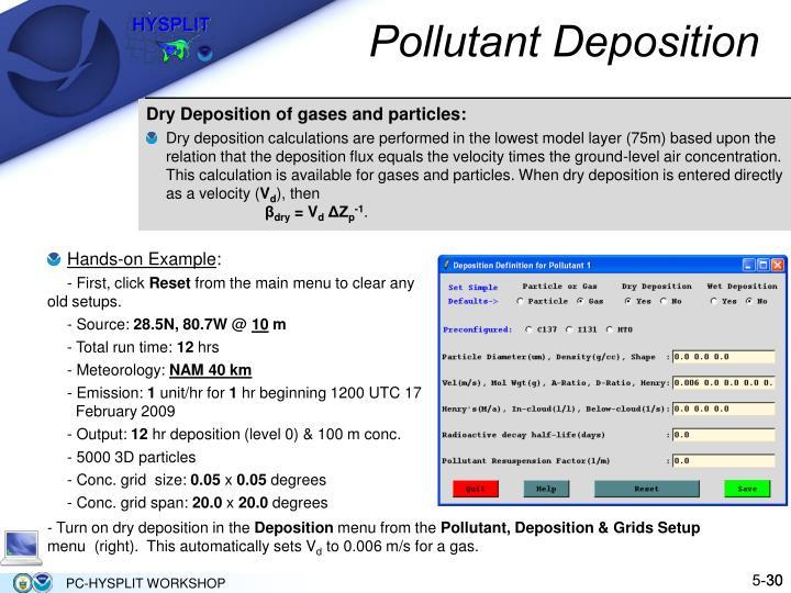 Pollutant Deposition