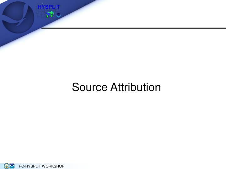 Source Attribution