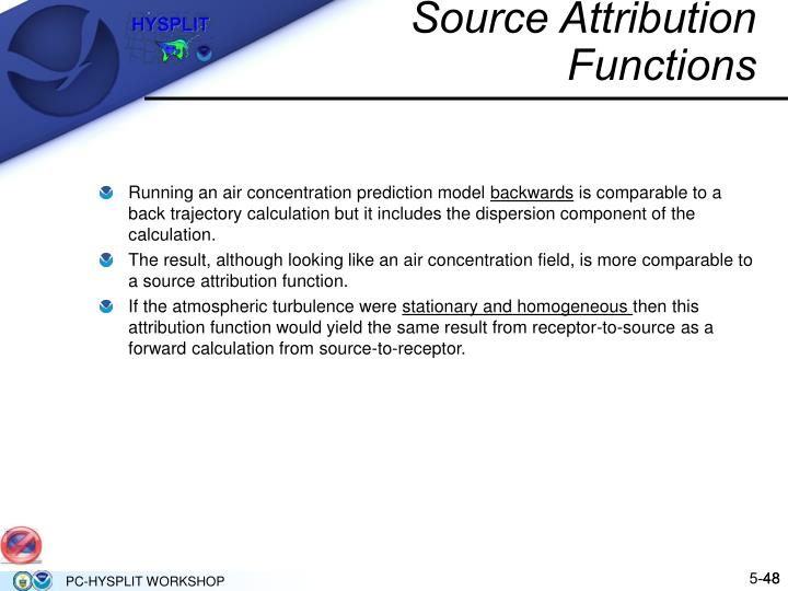 Source Attribution Functions