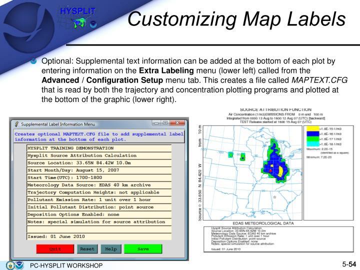 Customizing Map Labels
