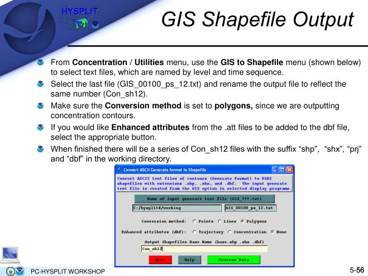 GIS Shapefile Output