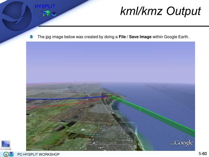 kml/kmz Output