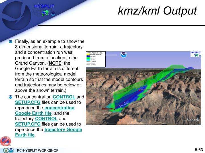 kmz/kml Output