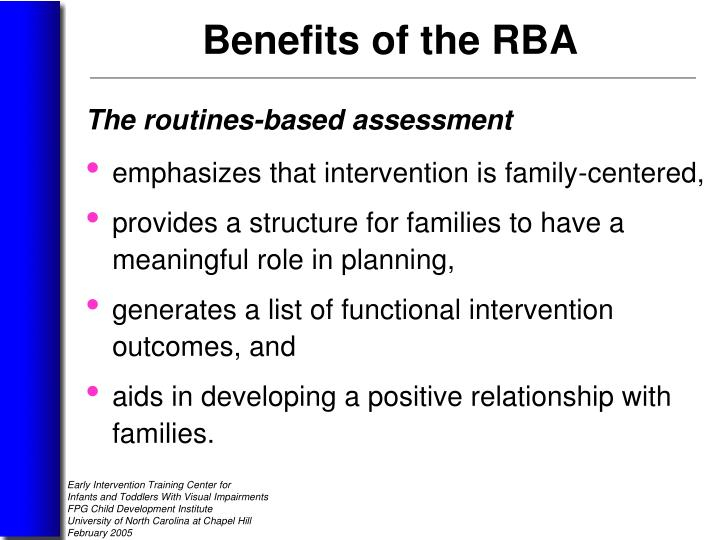 The routines-based assessment