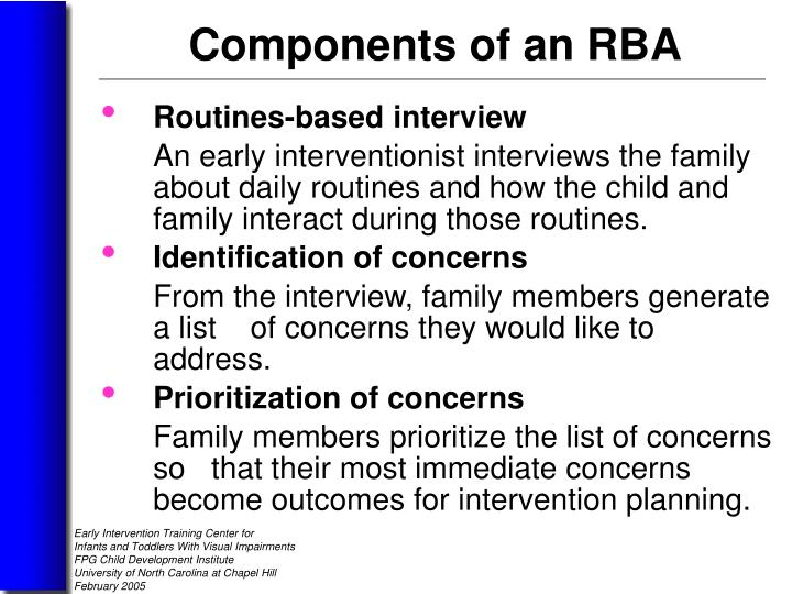 Routines-based interview